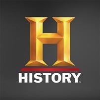 History Channel Logo Grey Background
